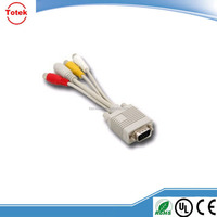 custom 15pin VGA cable to tv converter s-video rca out cable adapter