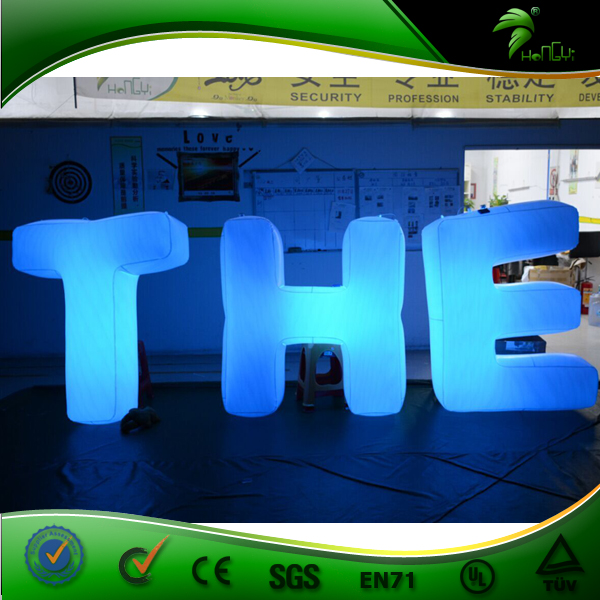 Customized Inflatable Letters LED Lights Balloon Events Decorations Floating Balloon