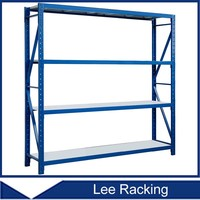 Warehouse Metal Shelf Divides Storage Stainless Steel Light Duty Rack