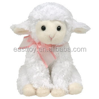 Easter Plush Stuffed White Sheep Toy