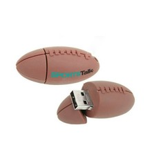 OEM PVC Silicon Rugby ball shaped Usb flash Drive, promotional Rugbyball USB pen drive, American football USB flash memory disk