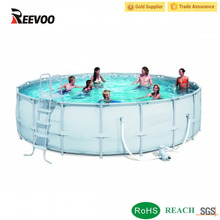 Super quality outdoor above ground metal frame pool swimming