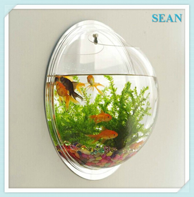 Wall Mount Hanging Acrylic Fish Tank, Fish bowl