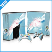 Competiive price with high quality vinyl decal for xbox 360 slim console controller skin sticker