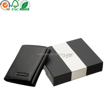 Dongguan supplier custom paper wallet box for man birthday gift ideas wholesale