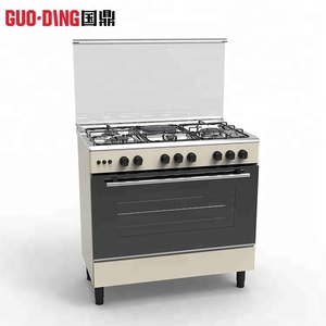 Home used freestanding 4 burner gas cooking range and electric cooker oven