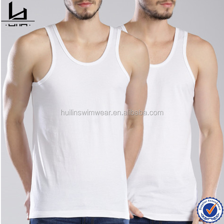 Bodybuilding clothing sport undershirt wholesale white vest tank top men