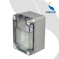 Saip/Saipwell Factory Junction Box with Net High Quality ABS PC Cover Clear Enclosure China IP65 Waterproof Electrical Box