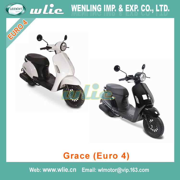Fast delivery gas scooters 50cc scooter with pedals Motor Scooter Gas Moped Grace (EEC Euro 4)