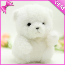 15cm Keychain Style Long White Plush Bear Toy, Bear Plush Wholesale, Bear Soft Toy
