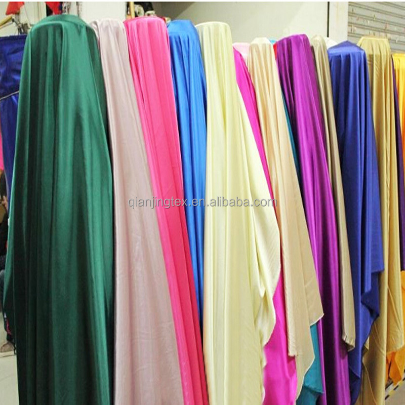 Quick shipping discount polyester shiny satin fabric wholesale