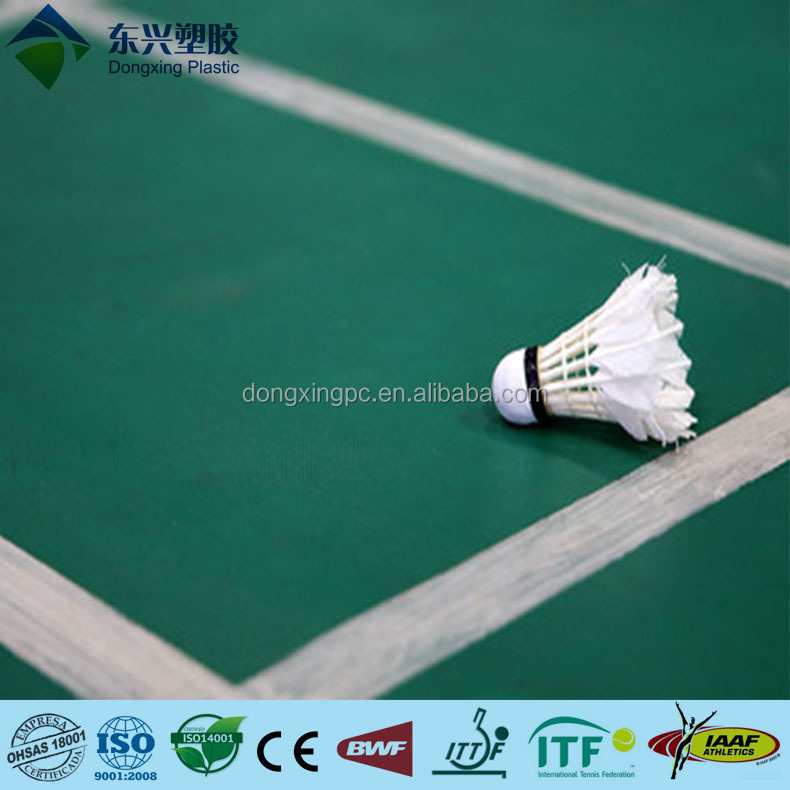 8mm sand surface BWF approved badminton court