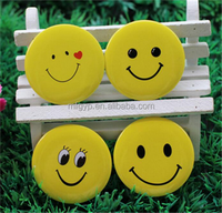 Promotional gifts warm smile face metal pin button badge