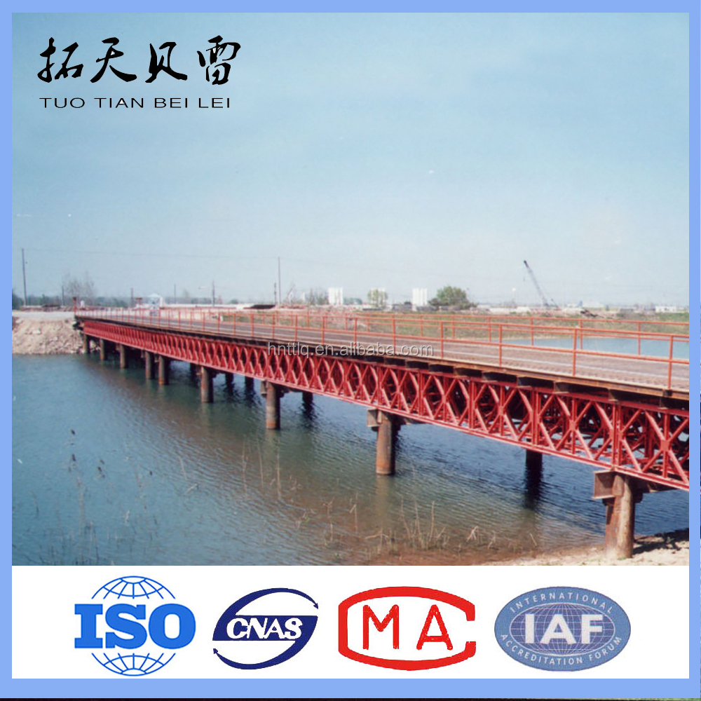 CB321,HD200 Hot-Dip Galvanized railway steel bridge for sale and acrow panel bridge