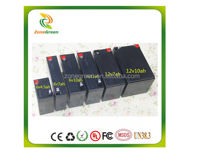 Children's electric toy car battery 6v/12v rechargeable Lead acid battery