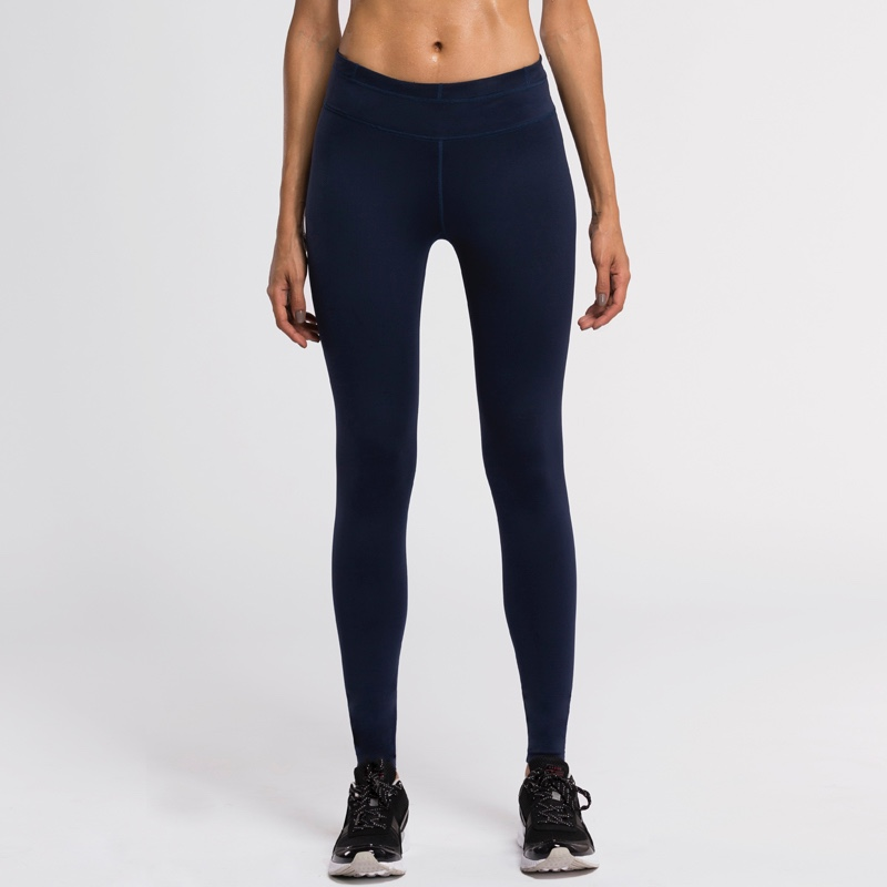 #WMLL003 Full-length Skin Tight Compression Quick Dry Lady Diamond Blue Fitness Sport Yoga Pants Legging