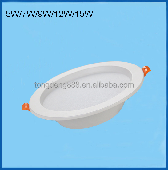 7W LED Round Recessed Ceiling Flat Panel Downlight Ultra Slim Cool white Warm White