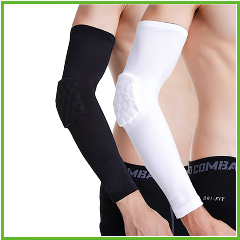 Anti collision Basketball Arm Guard Honeycomb Long Elbow Pads