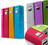 2015 Square aluminum 2200mah wholesale power bank for business gifts items