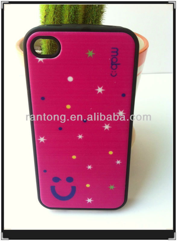 smile face smart mobile phone case for iphone 4s