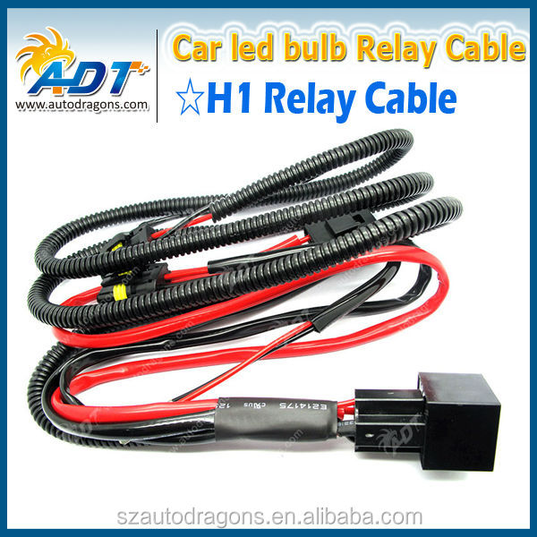 Hot deals 12V 35W 40A auto HID male female connector, HID Xenon relay cables for H1 car accessories