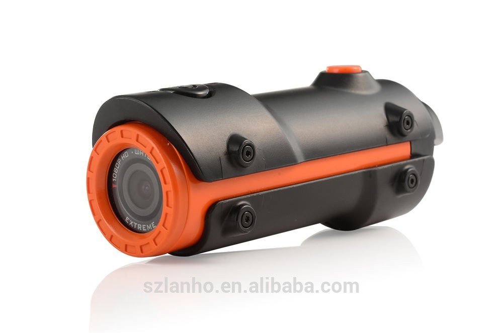S10W Flashlight Type Full HD 1080P 12MP Waterproof Cam Action Sports Cam Orange