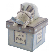 Popular Item Handicraft Cutom Light Blue Baby Tooth Fairy Box