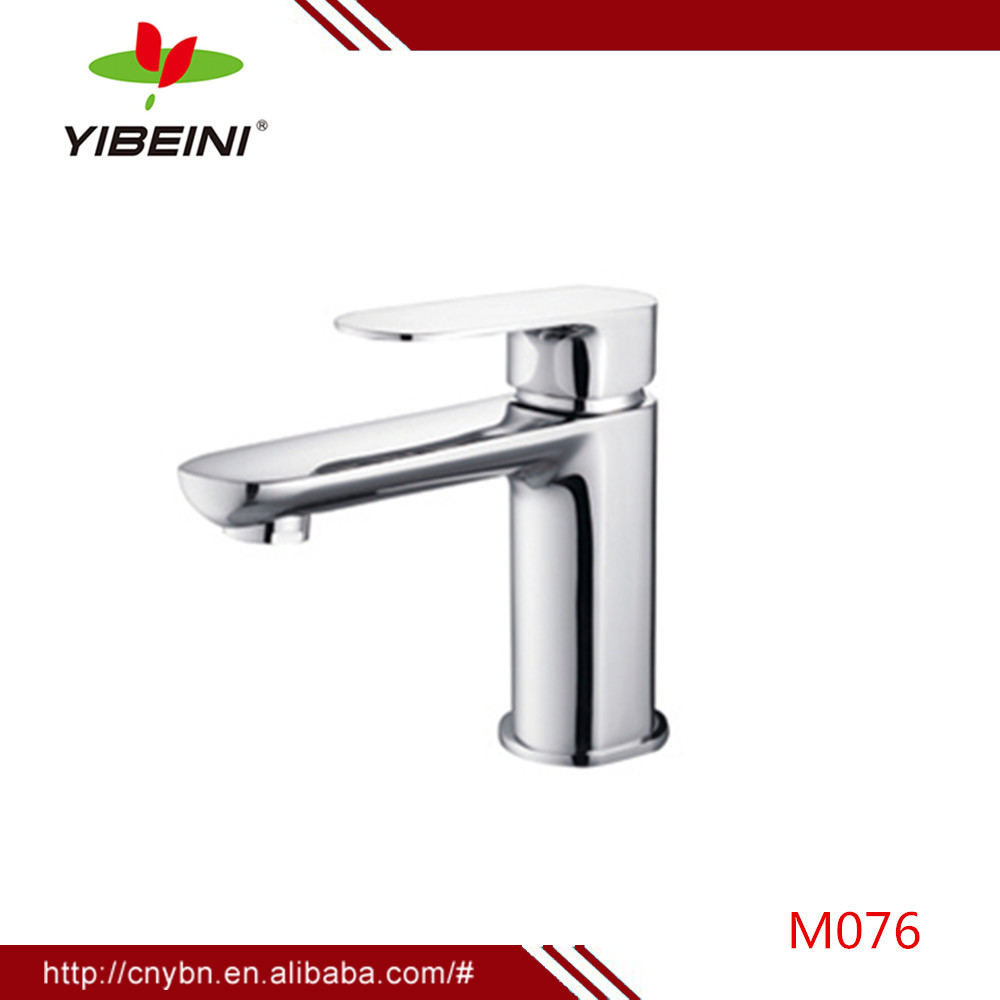 Practical water-saving basin faucet - Deck mounted Single Hole Bathroom Basin Faucets Mixer Taps Chrome One handle