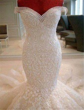 China OEM Sexy Beaded Crystal African Wedding Dresses 2018 For Fat Woman