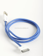 1M colourful USB2.0 line for iPhone3G,iPhone4/4S,ipad2,ipad3
