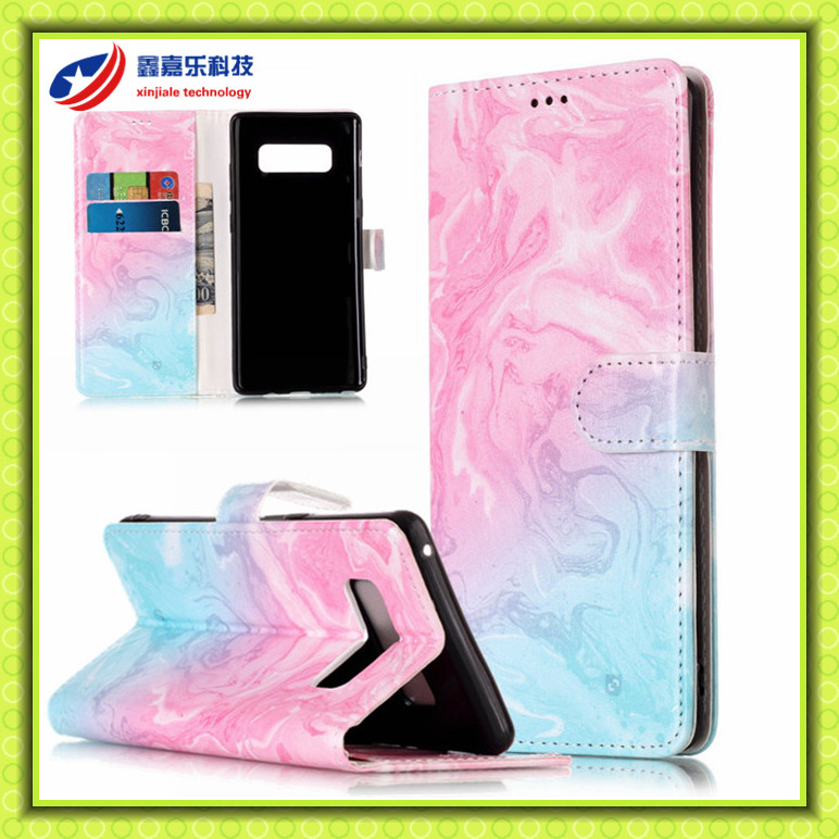 Wallet Case Slim PU Leather Credit Card Slots Cash Pocket Stand Holder Magnetic Closure Cover for Samsung Galaxy Note 8