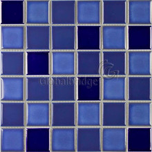 Glazed ceramic mosaic tile& blue mosaic tile for swimming pool or bathroom