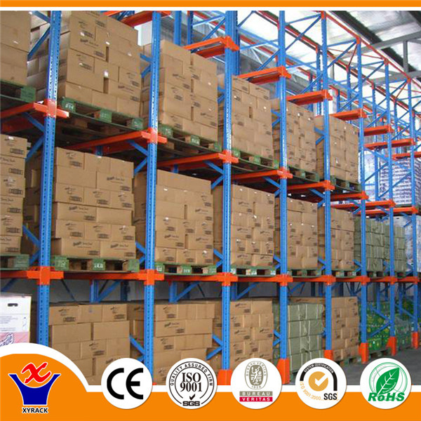 Heavy duty drive in pallet stack racking with CE