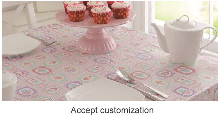 Premium Quality Pink PVC Non-Woven Restaurant Tablecloth