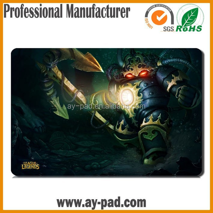 AY Bowmaster League of Legends Game Playmat Magic the Gathering Yugioh Cards Rubber Playmat, Trade Assurance Card Game Playmat