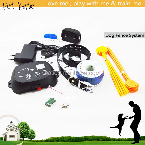 Professional Dog Training Supplies Outdoor Pet Wired E Fence with Shock Collar