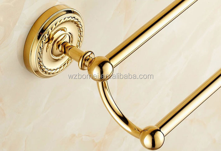 FLG Bathroom extension brass Double towel bar/ towel holder/bar towel