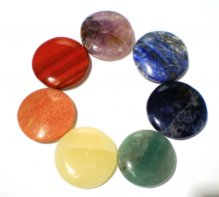 natural mixed 7 colors gemstone wholesale chakra stones set