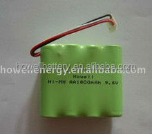 AA1800mAh/AAA 9.6v 650mah Nimh Rechargeable Battery Pack With Less Delivery Time