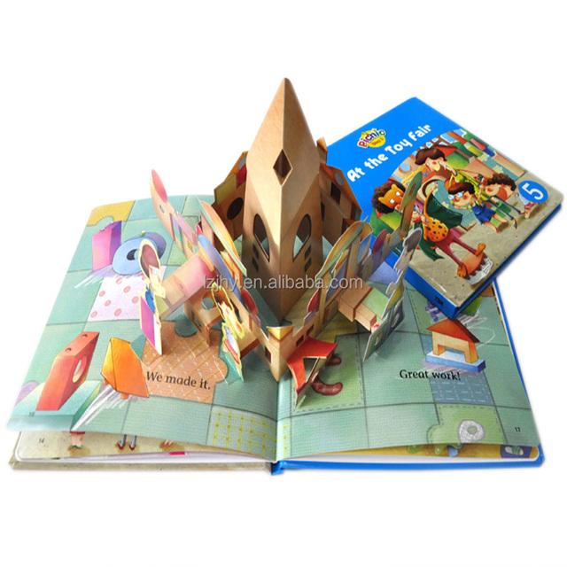 custom kid books 3D colorful children books