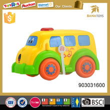 Small scale model plastic toy bus