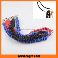 Double headed dog leash with strong elastic dog Leash,running drawstring