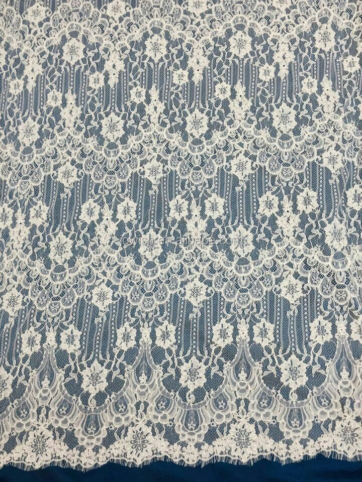 Gorgeous Bridal French Tulle Corded Lace, Wedding Lace Dress Fabric