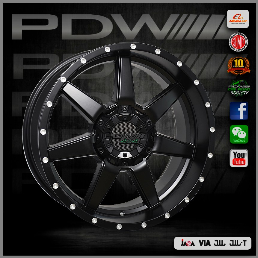 PDW brand concave rims, zhejiang alloy wheels factory near yiwu since 1983