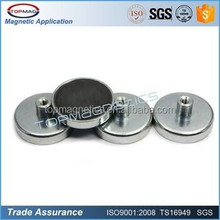 14 years experience!Customized Magnetic Assembly Zinc Coating Metal and Ferrite Pot Magnet D50 X 10 mm