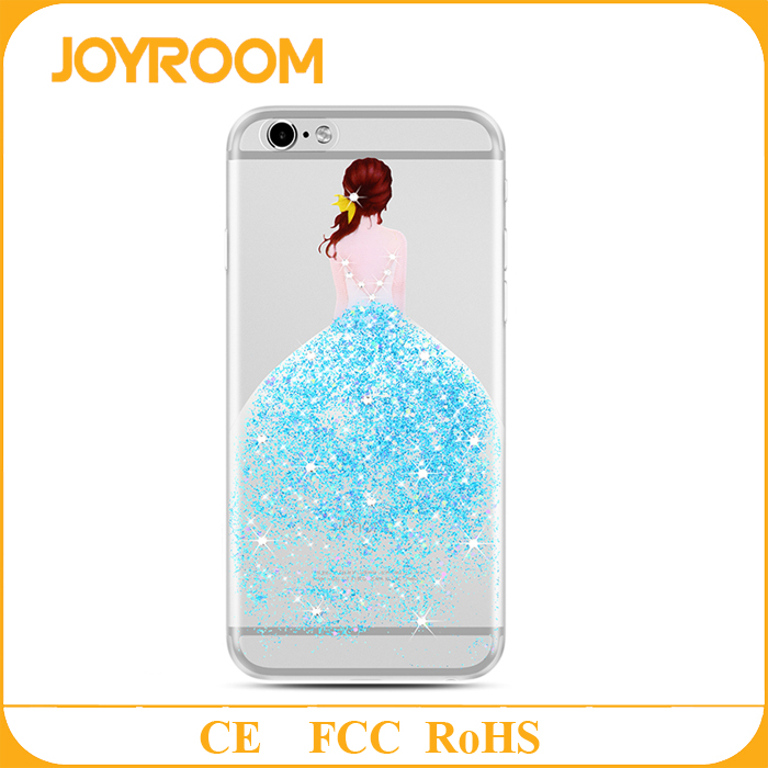 joyroom TPU+Rhinestone Material for Apple iPhones Compatible Brand For iPhone 7 art printed case