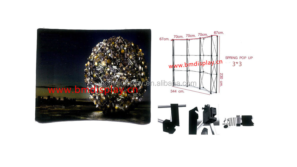 Collapsible spring pop up display stands, backdrop stand