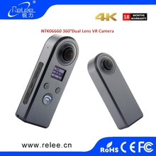 fashion design 360 camera 720 degree dual lens action vr camera
