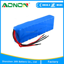 UN38.3,CE,ROHS Approved Li ion 18650 14.4v li-ion battery pack