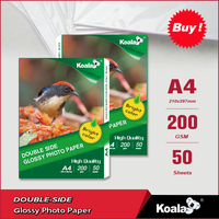 Double-sided semi glossy 200g inkjet photo paper